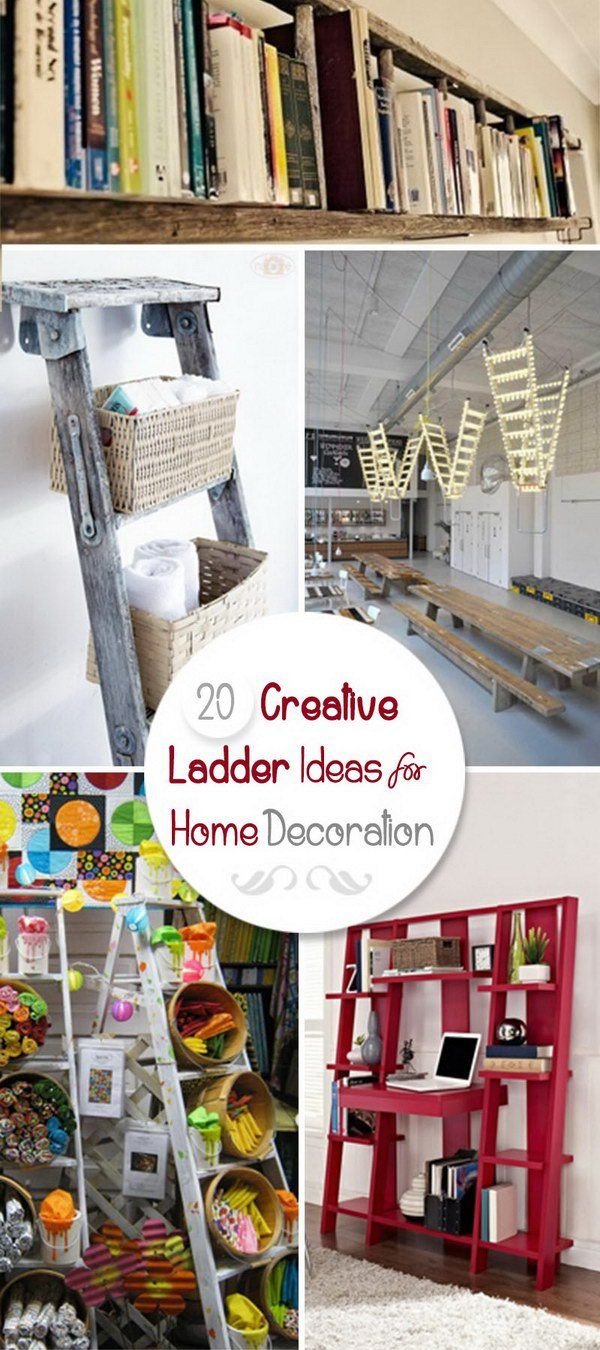 Creative Ladder Ideas For Home Decoration Projects To Try - Creative-idea-for-home-decoration-2
