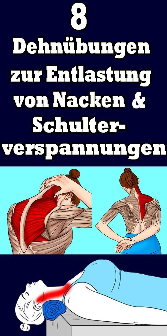 8 Dehnübungen zur Entlastung von Nacken- und Schulterverspannungen - Gesundheit und fitness - #Dehnü...