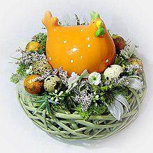 Dekorácie - Velikonoční dekorace - Kvočna - 6496109_