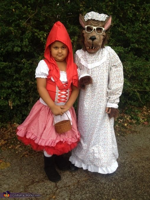 Little Red Riding Hood And Big Bad Wolf Halloween Costume