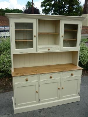 Painted 5 Open Hutch Dresser