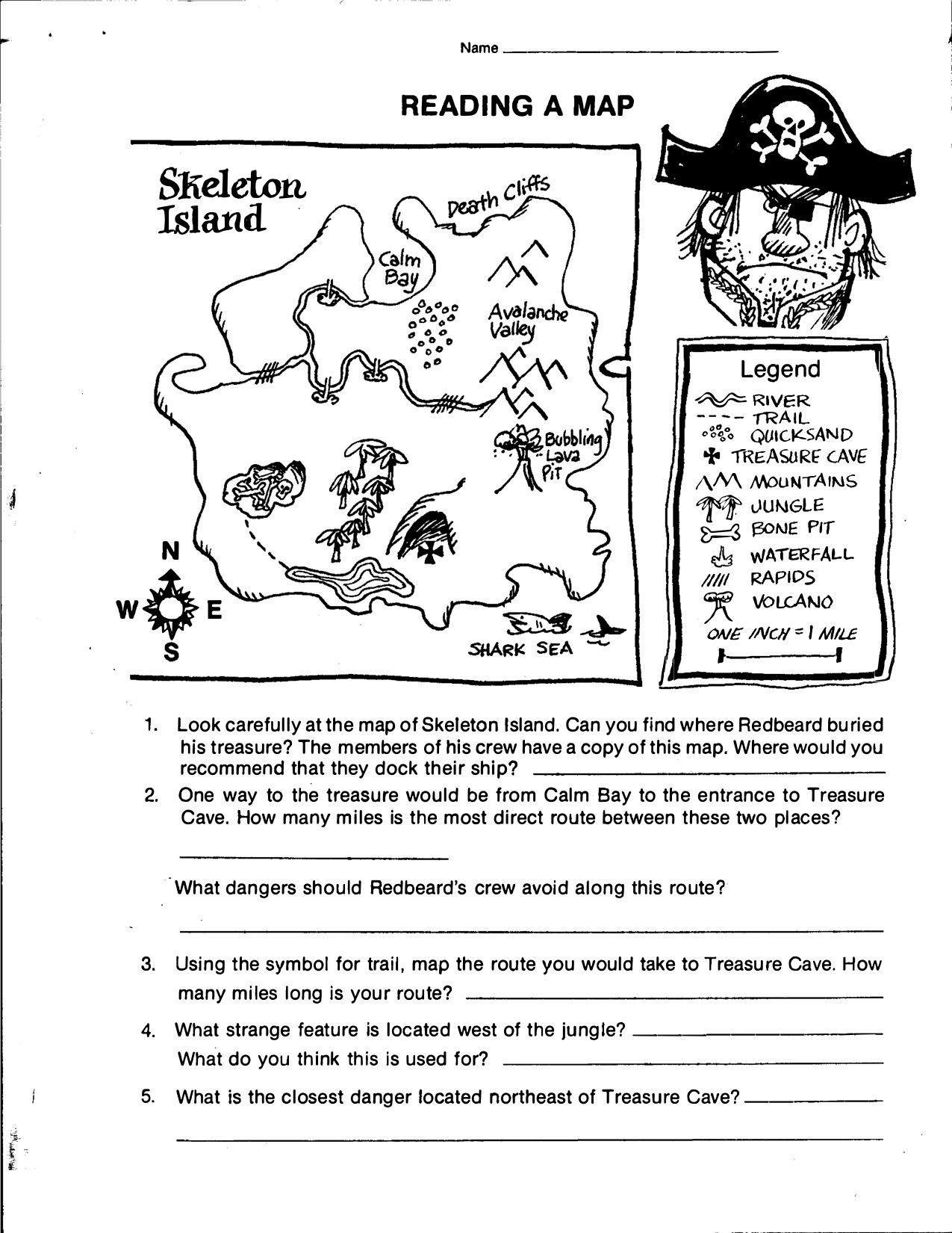 20 Reading A Map Worksheet Printable Worksheet Template Geography Worksheets Map Worksheets Word Problem Worksheets [ 1650 x 1275 Pixel ]