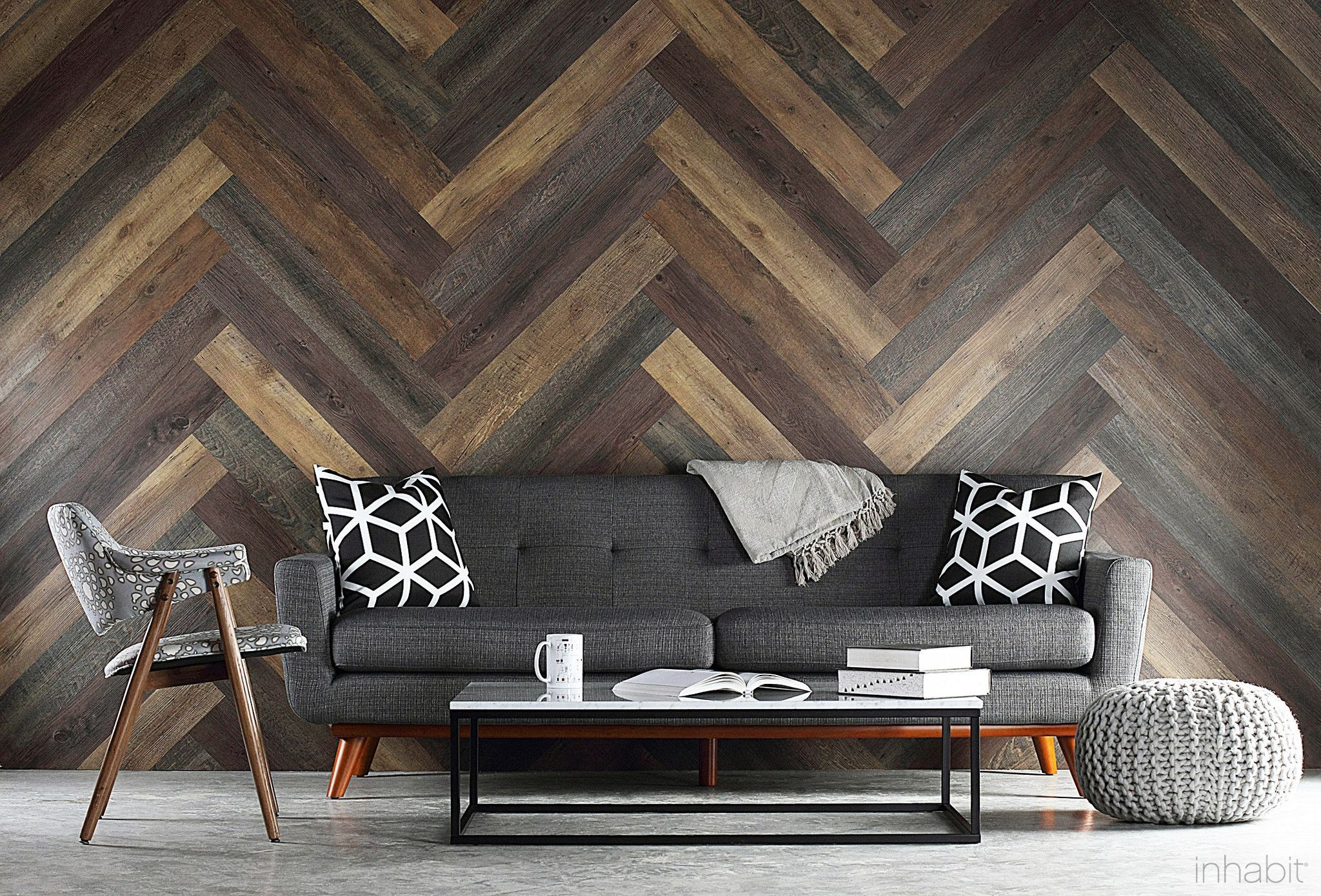 Pallet Wood Look Peel and Stick Wall Planks