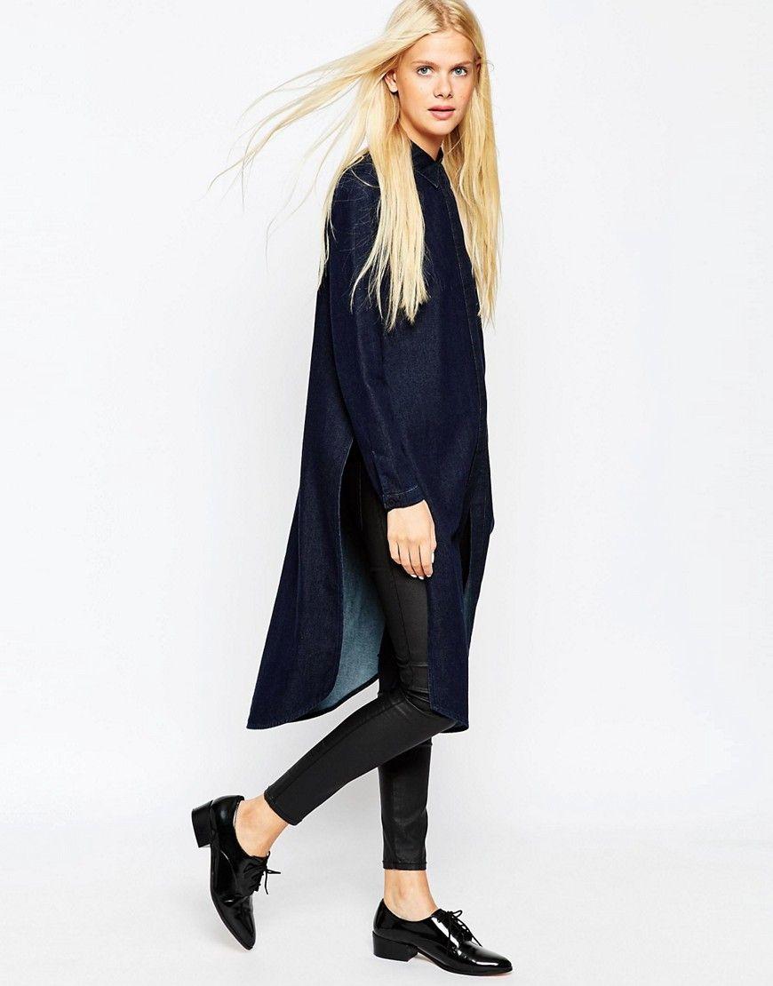 Длинные женские рубашки (с изображениями) | Длинные ...