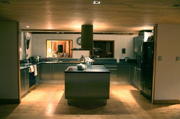 Cocinas modernas con isla: 100 ideas impresionantes   Cocina moderna ...