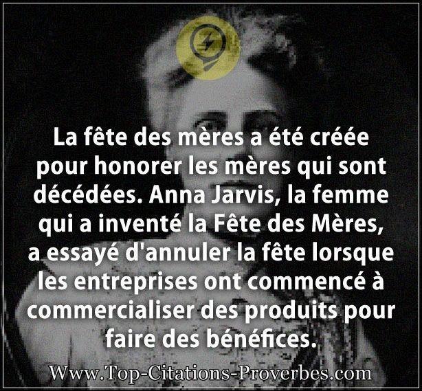 Citation femme la fete des meres a ete creee pour honorer les meres qui sont decedees anna - Citation fete des meres ...