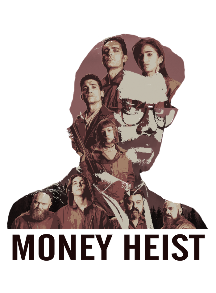 Money Heist Fanart Brown Version Art Print By Frd Art Design X Small Fan Art Mini Art Art Design