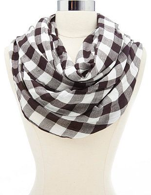 Gingham Check Infinity Scarf: Charlotte Russe