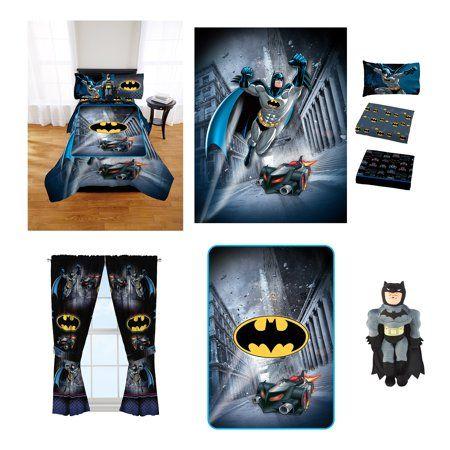 Batman Kids Room In A Bag W Comforter Pillow Buddy