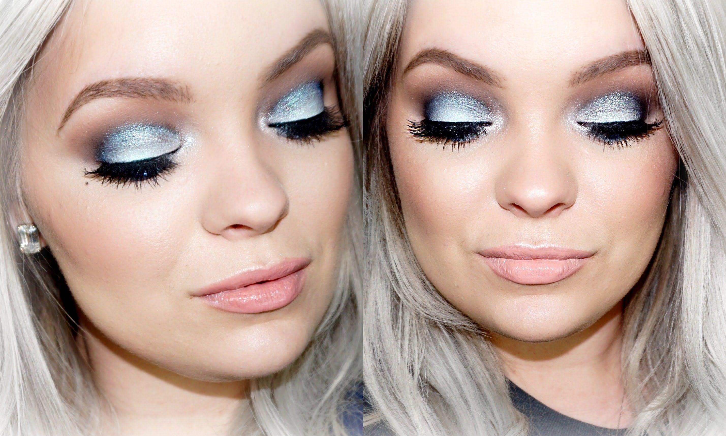 Icy Blue Smokey Eyes Makeup Tutorial Brianna Fox (With