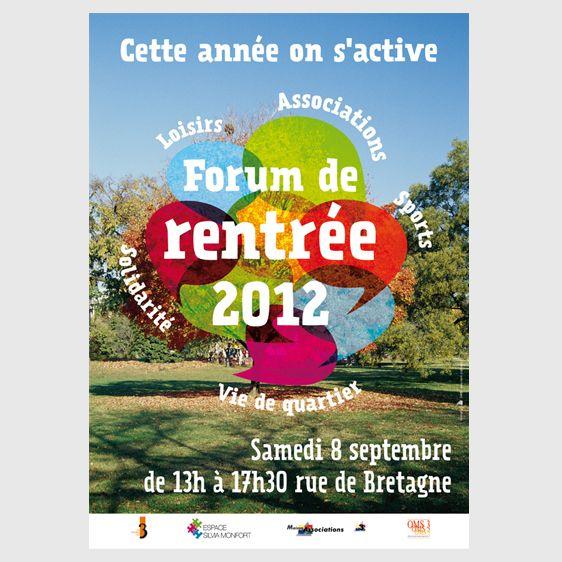 Création d'une affiche pour le forum de rentrée de la mairie du 3e de Paris. Le concept de l'affiche a été décliné sur de multiples supports