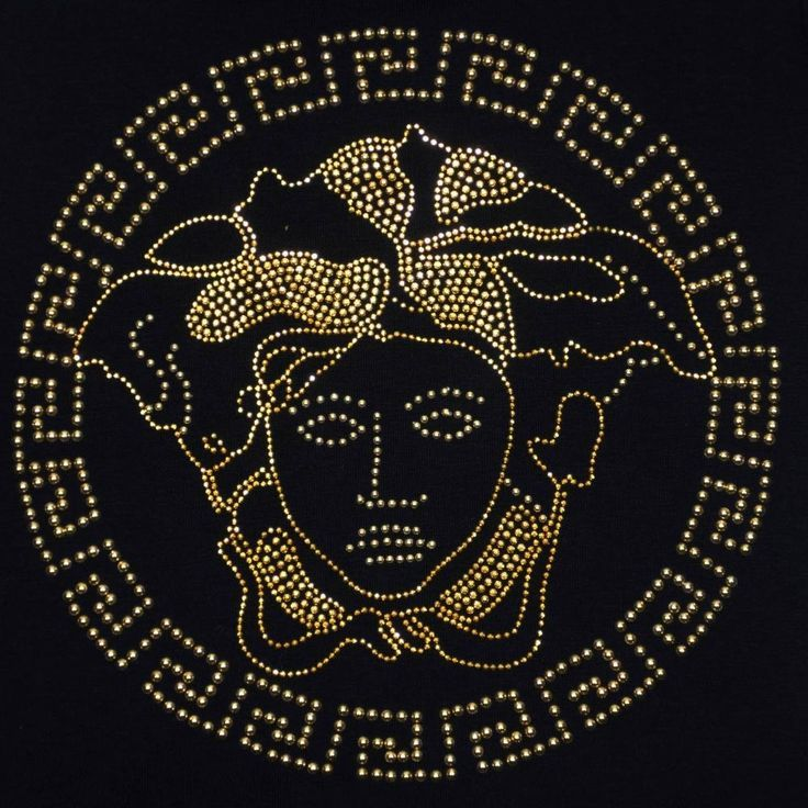 Image result for black and gold versace logo (With images