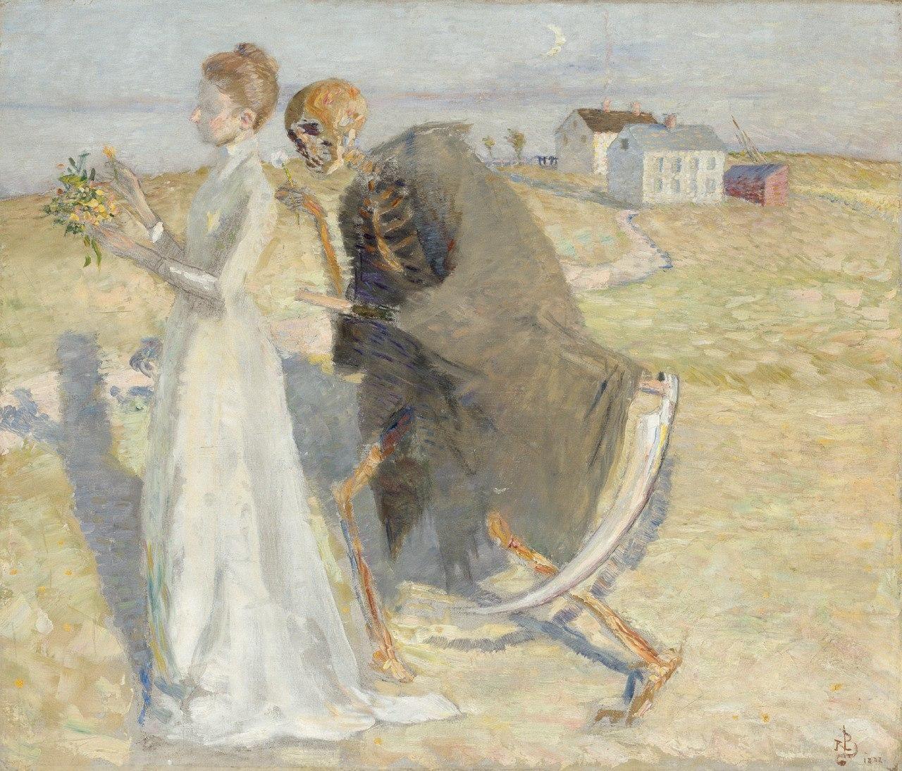 Richard Bergh  Flickan och Döden 1888