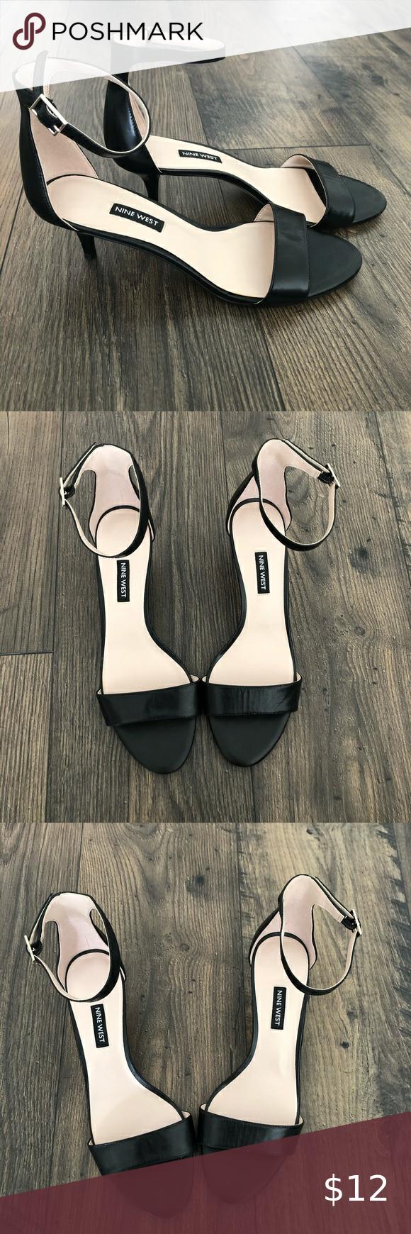 Black Strap Kitten Heel Sandal Women S 9 M In 2020 Kitten Heel Sandals Womens Sandals Sandals Heels