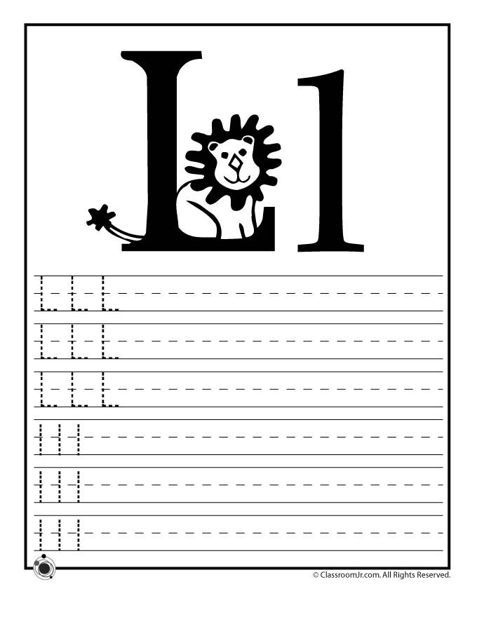 learning abc s worksheets learn letter l classroom jr pre k work printables learning. Black Bedroom Furniture Sets. Home Design Ideas