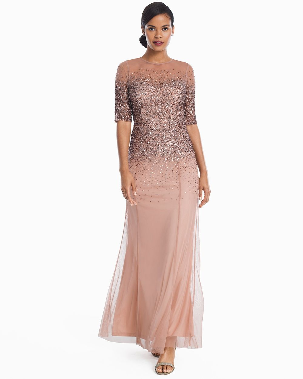 Women\'s Adrianna Papell Ombre Sequin Gown by WHBM | Adrianna papell ...
