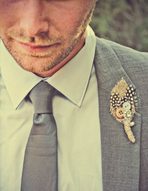 25 Rustic Boutonniere Ideas | A Handcrafted Wedding