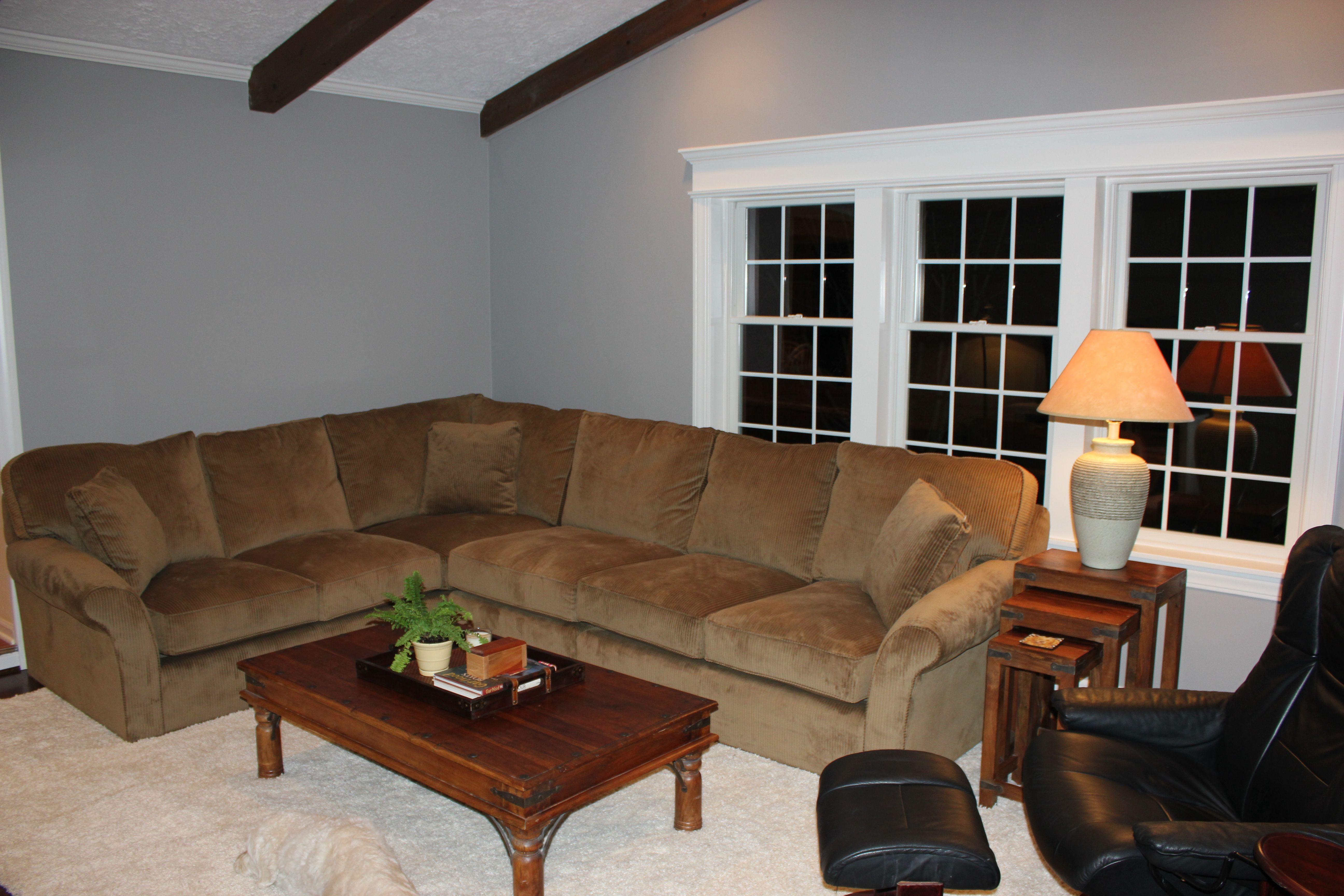 New Family Room Benjamin Moore Baltic Gray Paint