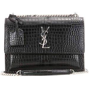 Embossed leather shoulder bag Saint Laurent kYZk9mQ8J