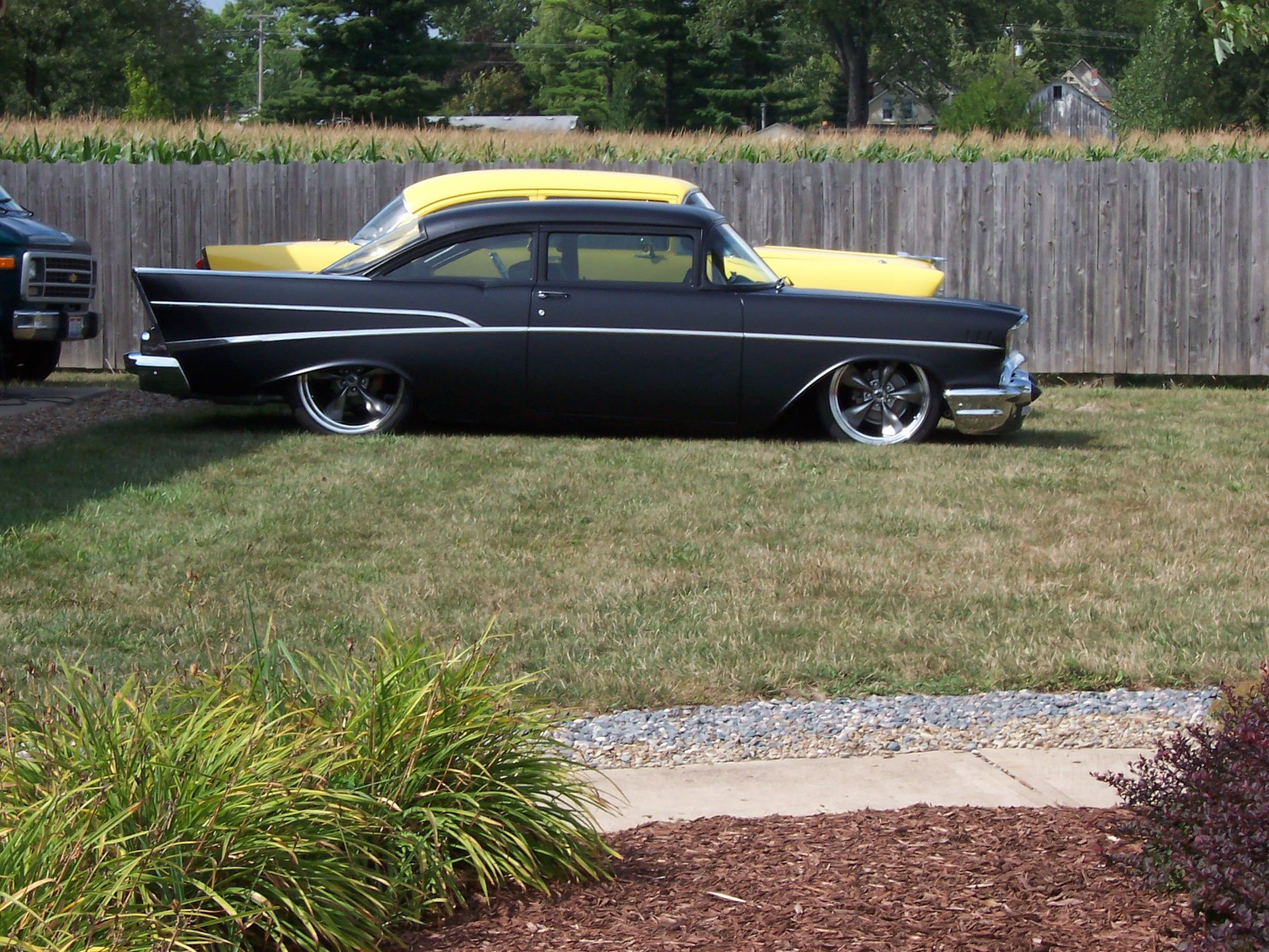 Chopped 57 Chevy with 60 Chevy roof swap. | 1957 Chevy | Pinterest ...