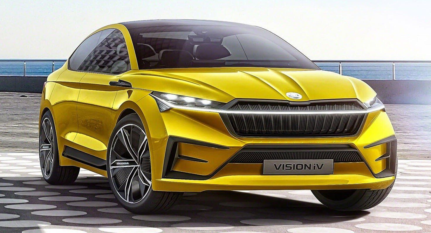 Skoda Vision Iv Ev Concept Is Yet Another Coupe Suv With An