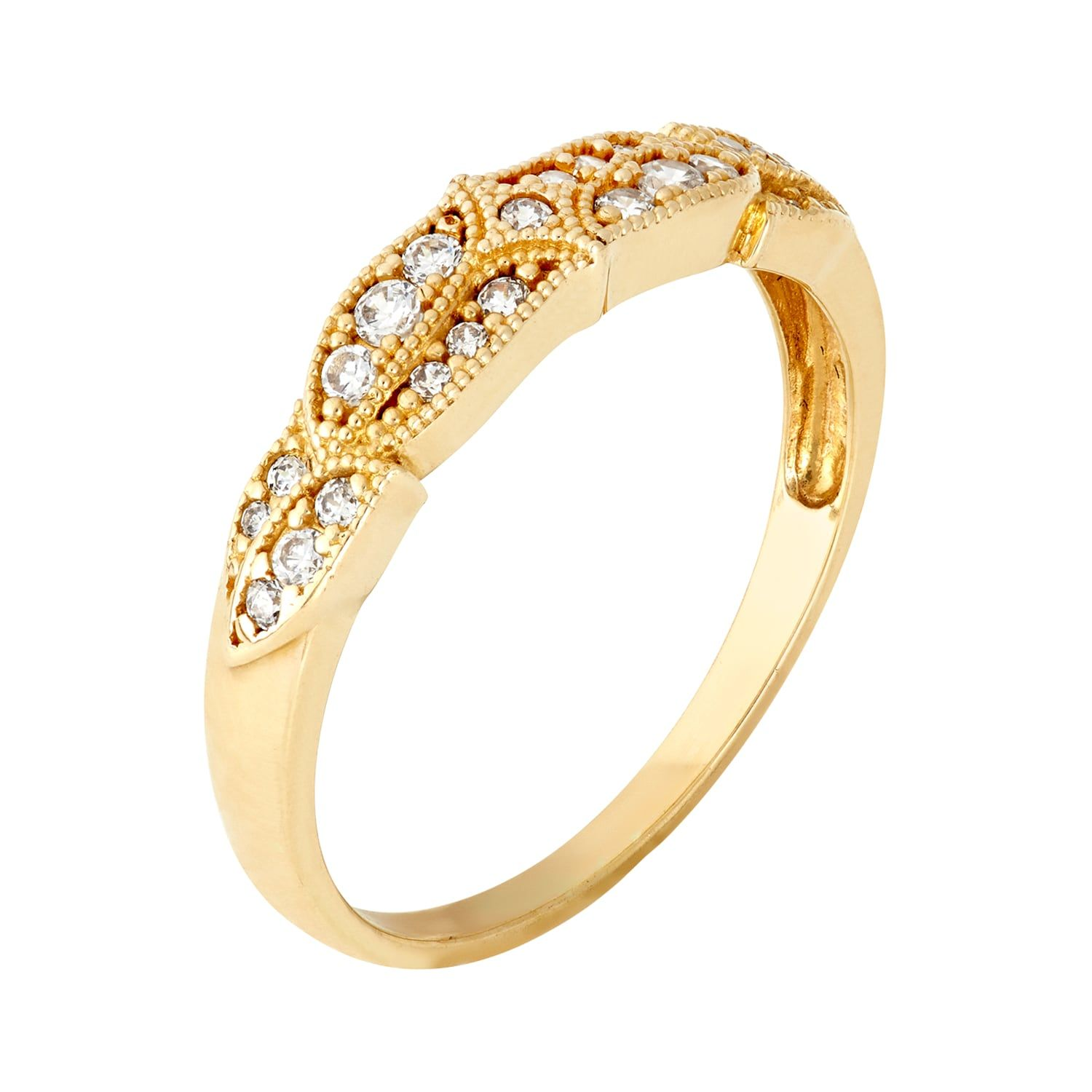 Cubic Zirconia Wedding Ring In 10k Gold Wedding Zirconia Cubic Gold