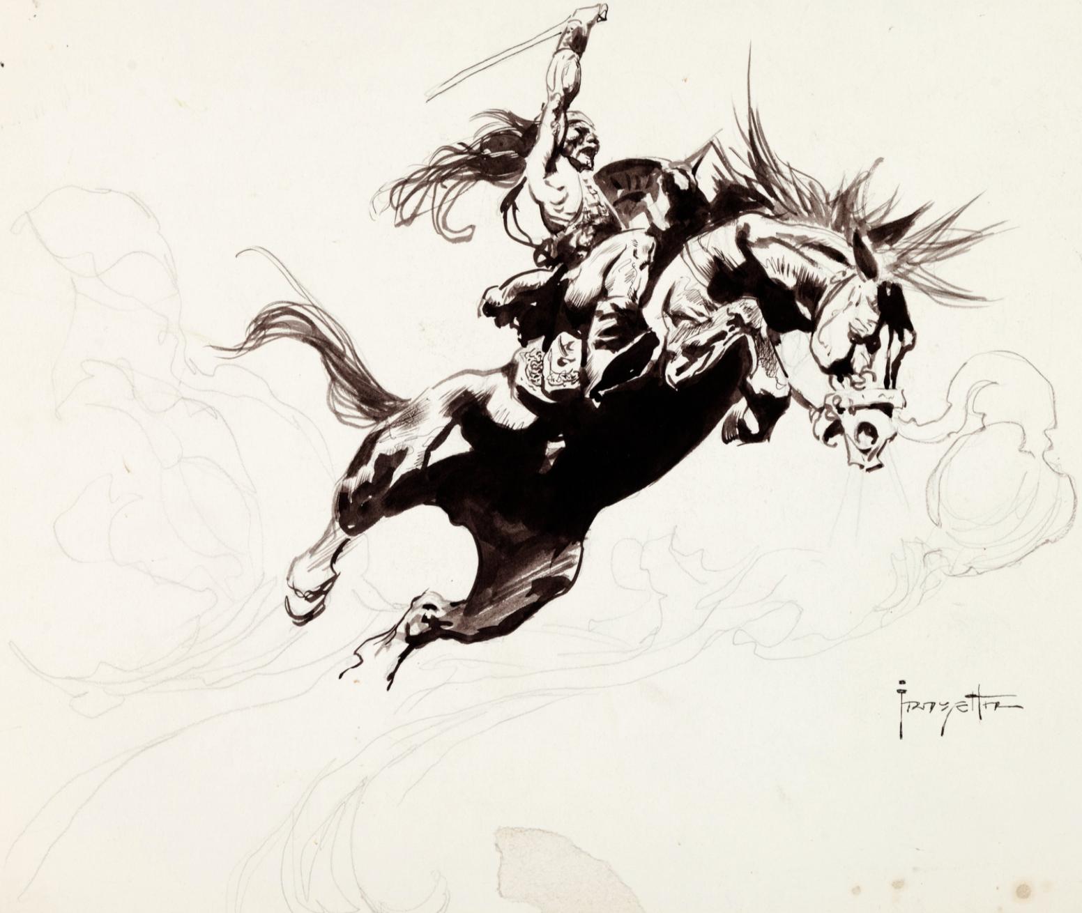 Frank Frazetta. Kubla Khan Plate 5 Preliminary Sketch