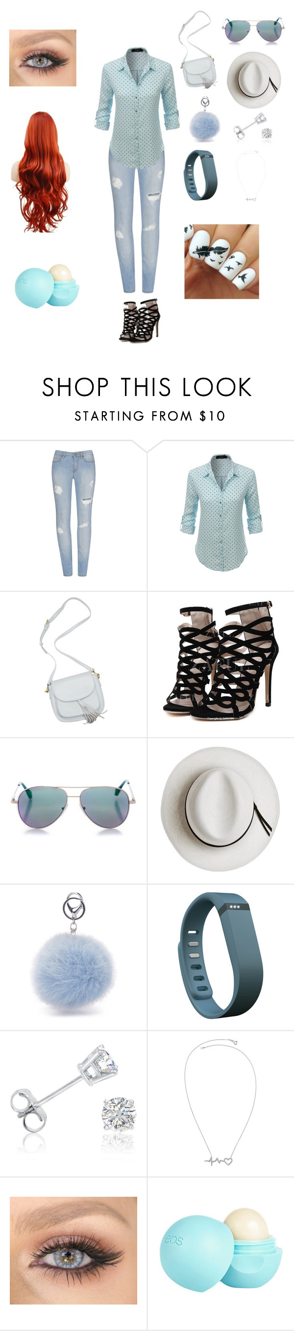 """""""Chillin"""" by jazzywiggles ❤ liked on Polyvore featuring LE3NO, Cutler and Gross, Calypso Private Label, Fitbit, Amanda Rose Collection and River Island"""