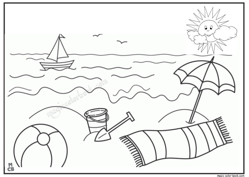 Pin by Magic Color Book on Summer Coloring pages free