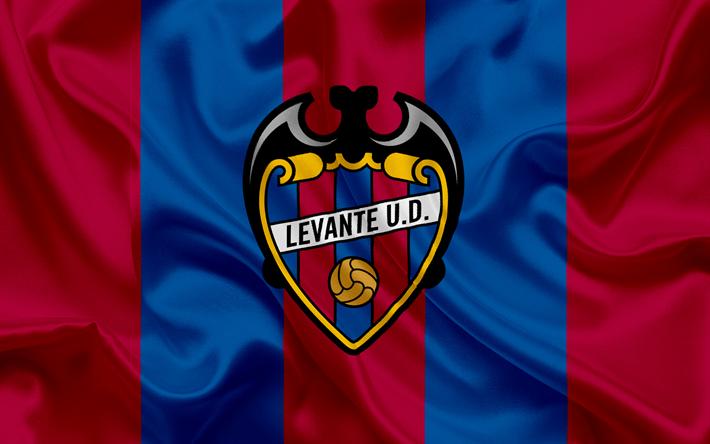 Lataa kuva Levante UD, football club, Levante-tunnus, logo, La Liga, Valencia, Espanja, LFP, Espanjan Jalkapallon Mm-Kilpailut