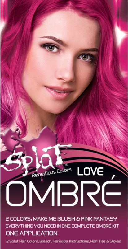 Splat Ombre Hair Color Kit Dyed Hair Ombre Ombre Hair Splat Hair Color