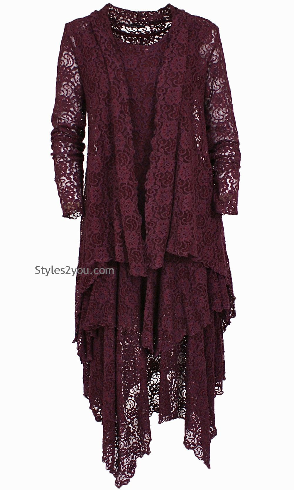 Abigalie Lace Dress In Burgundy | Women's Fashion | Pinterest ...