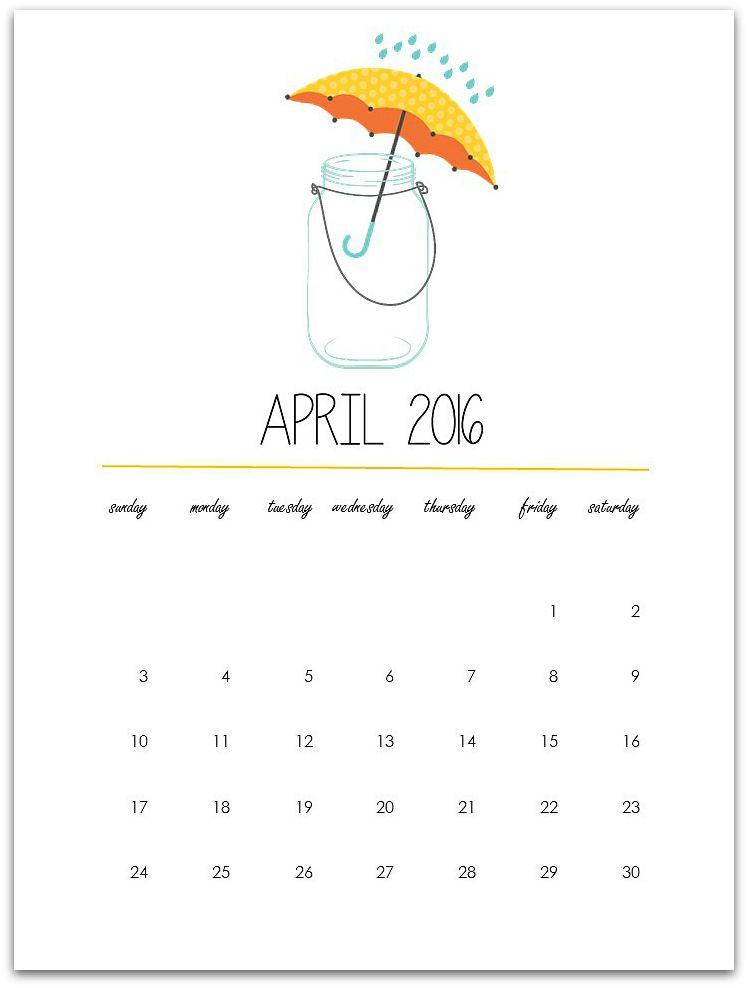 April Calendar Page Bullet Journal Ideas Pages Bullet Journal