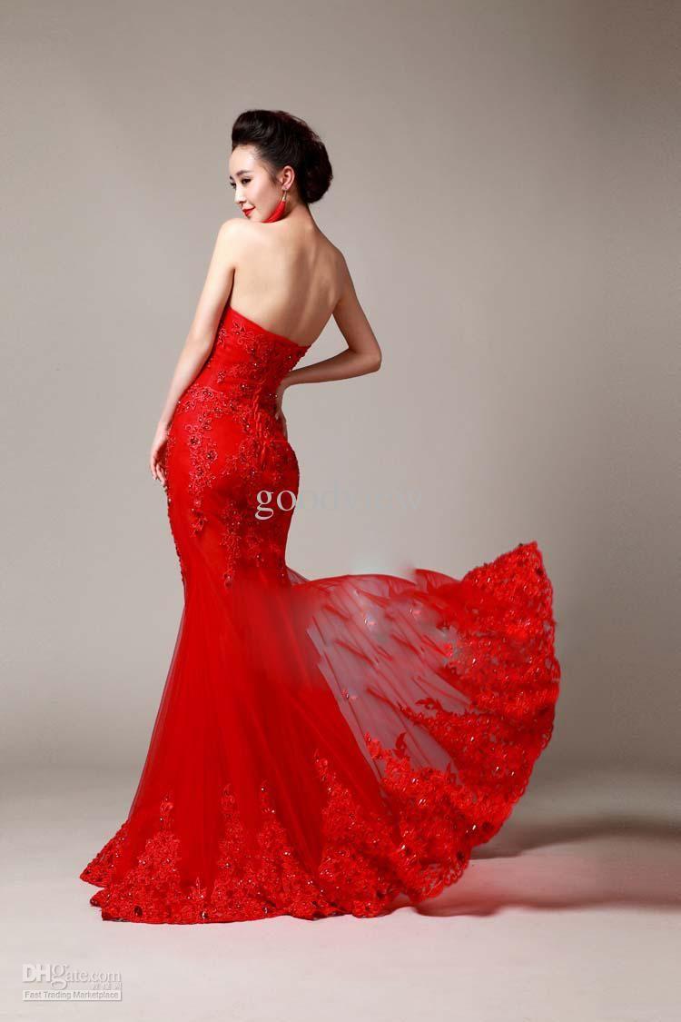 Watch - Red wedding mermaid dresses video