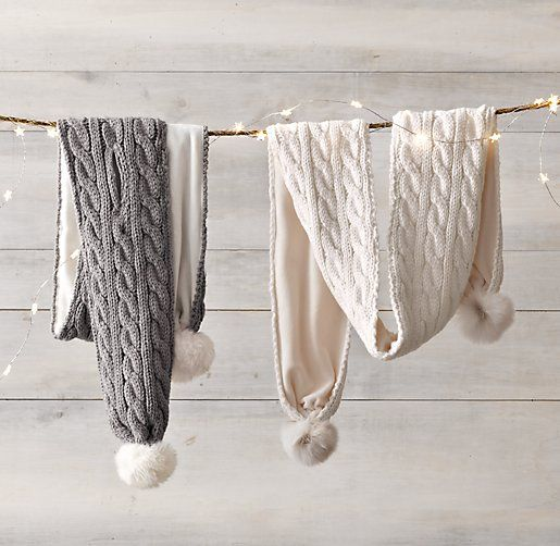 Cable Knit & Luxe Faux Fur Scarf - Ivory for Isabelle