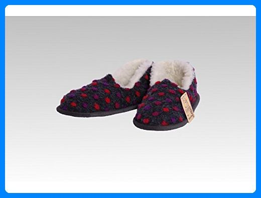 R24B Spot On X2R089 Childrens Red Textile Flat Novelty Santa Slippers