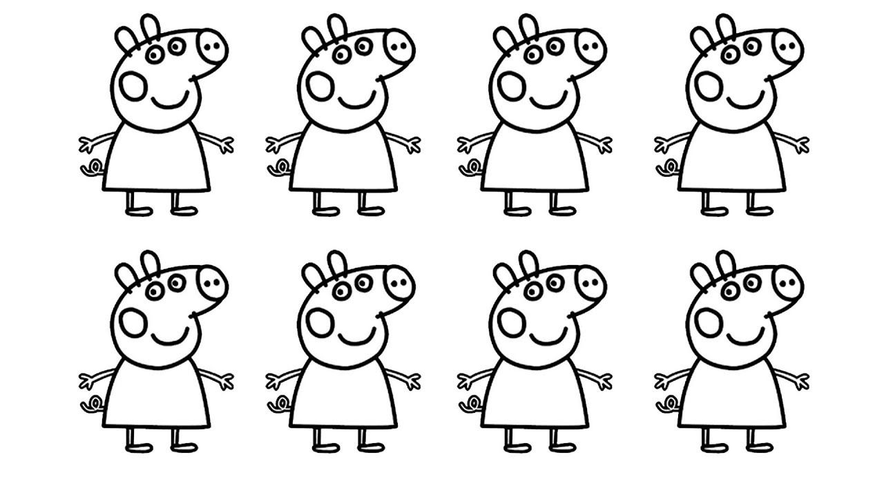 peppa pig learn colors ice cream Glitter Coloring pages