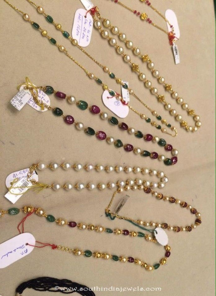 473b21a830162 Gold Pearl Chains Collections