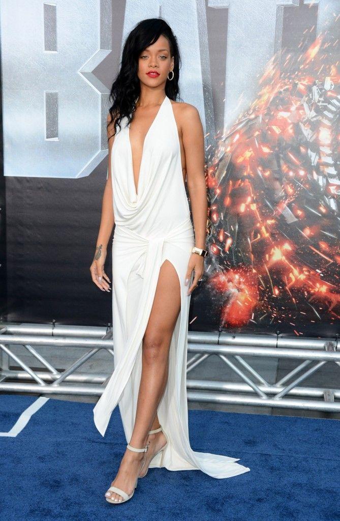 Rihanna Dress   Rihanna White Dress   creative pics   Pinterest