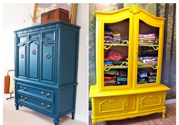 Comment relooker ses meubles de famille ? Armoires, Amy howard - Repeindre Un Meuble En Chene