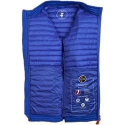 Photo of Save The Duck quilted jacket men, microfiber, blue Save the DuckSave the Duck