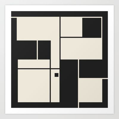 De Stijl / Bauhaus series 1 Art Print by Jamie Harrington - $15.00