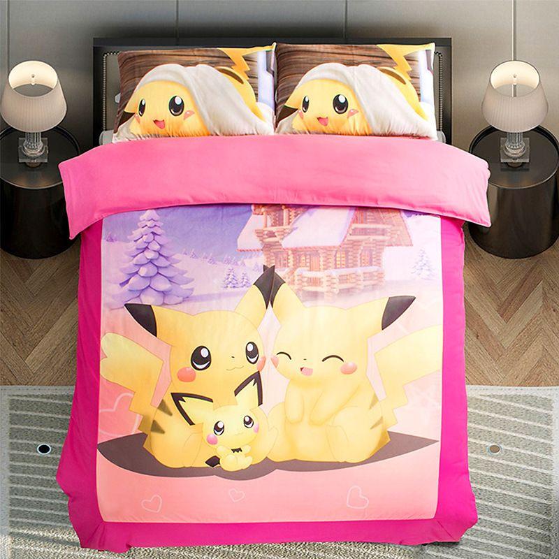 Pokemon Bedding Duvet Sets, Pokemon Bedding Queen Size