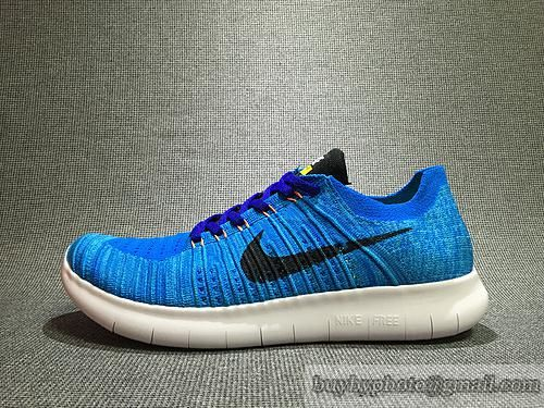 5ff491f6fd40 Mens NIKE Free RN Flyknit 5.0 Original Jogging Shoes Running Shoes 831069-403  Sky Blue