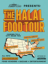 Halal Food Tour Flyer 5 American Cities For Food Cooking Demos And Culinary Challenges Halal Recipes Halal Gourmet Recipes