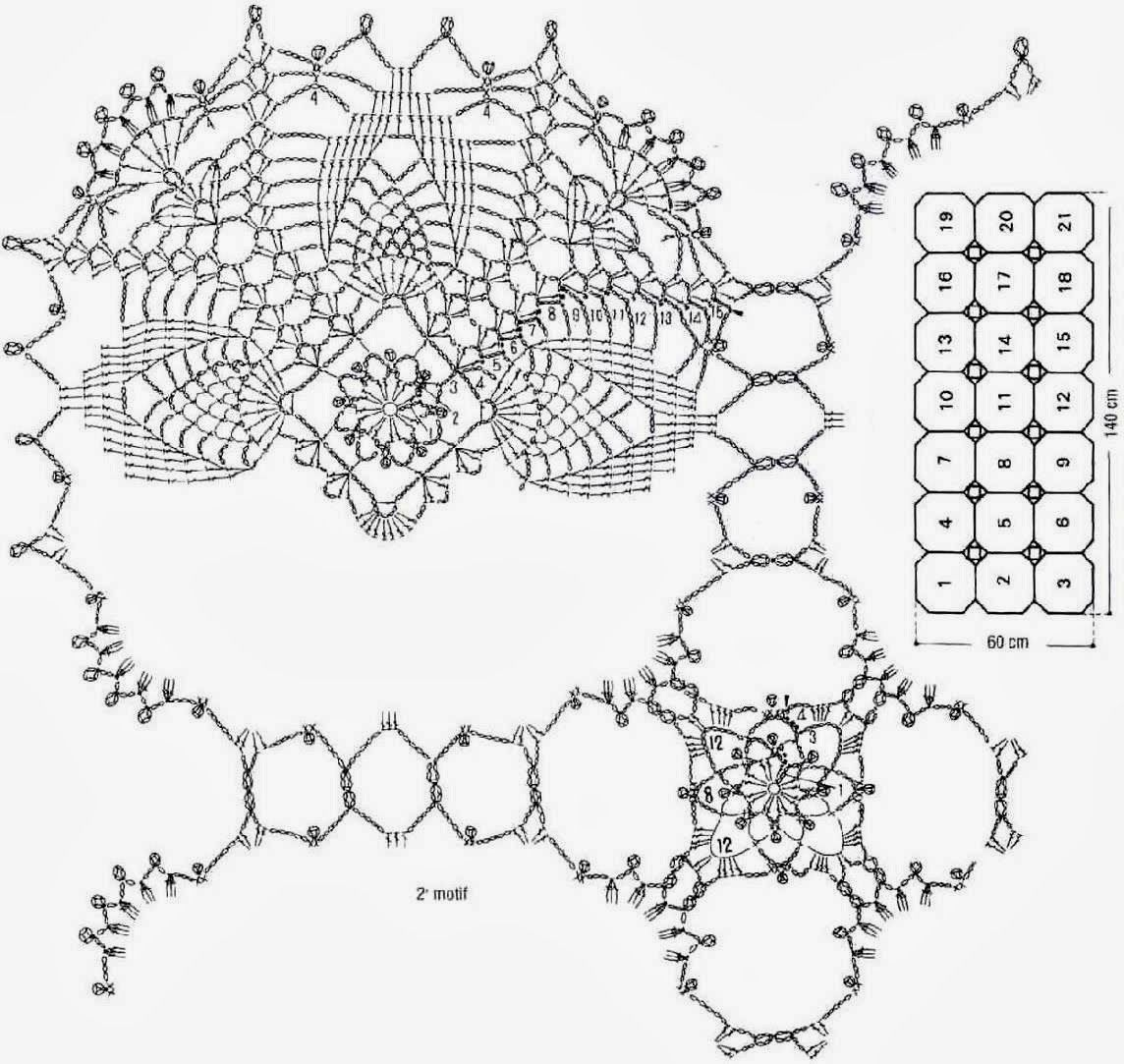 Crochet Art Crochet Patterns Of Lace Tablecloth