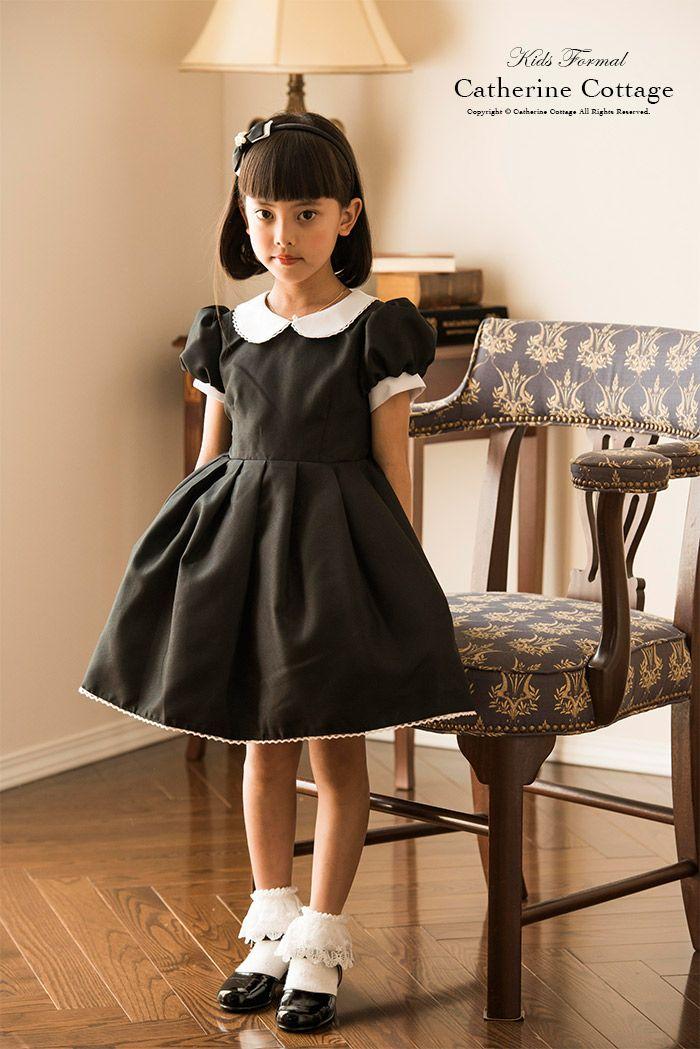 28397e460946c 「パフスリーブに丸襟とクラシカル雰囲気」 CC0152。ワンピース 丸襟クラシック 女の子ワンピース 子ども