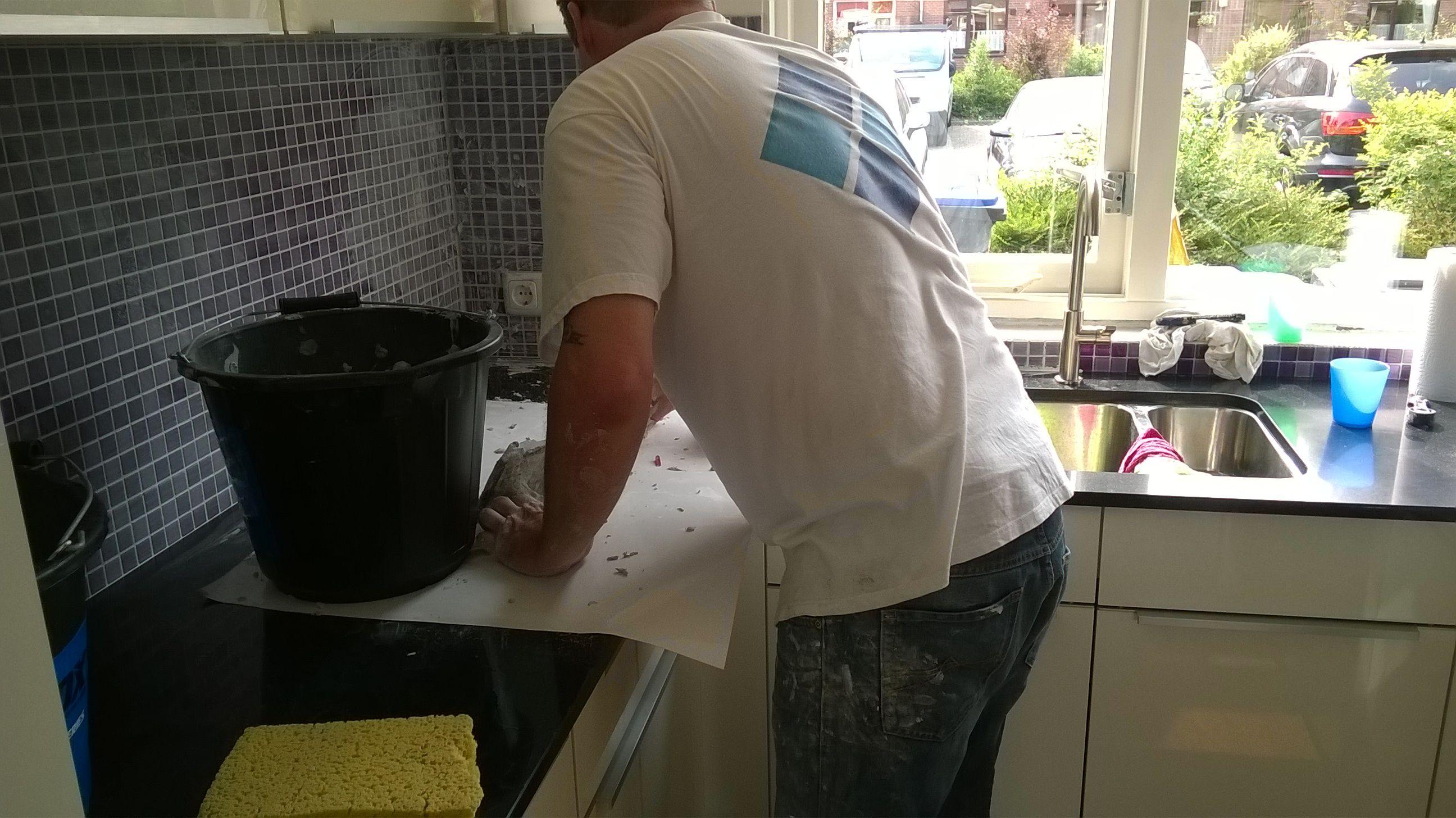 Nolte Keukens Dordrecht : Een nolte küchen keuken betegeld glasmozaiek door