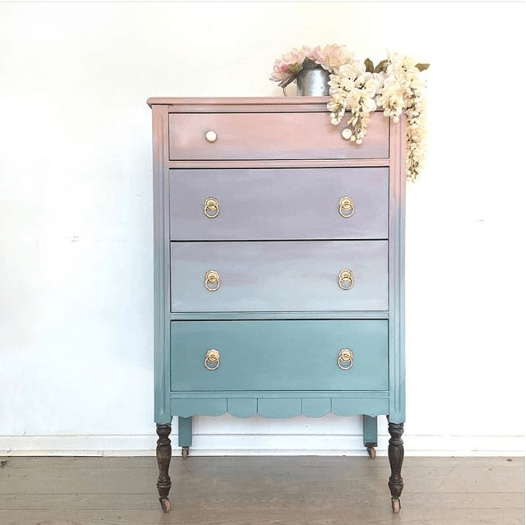 Photo of How To Paint Ombré Furniture With Furniture Paint   Country Chic Paint Blog