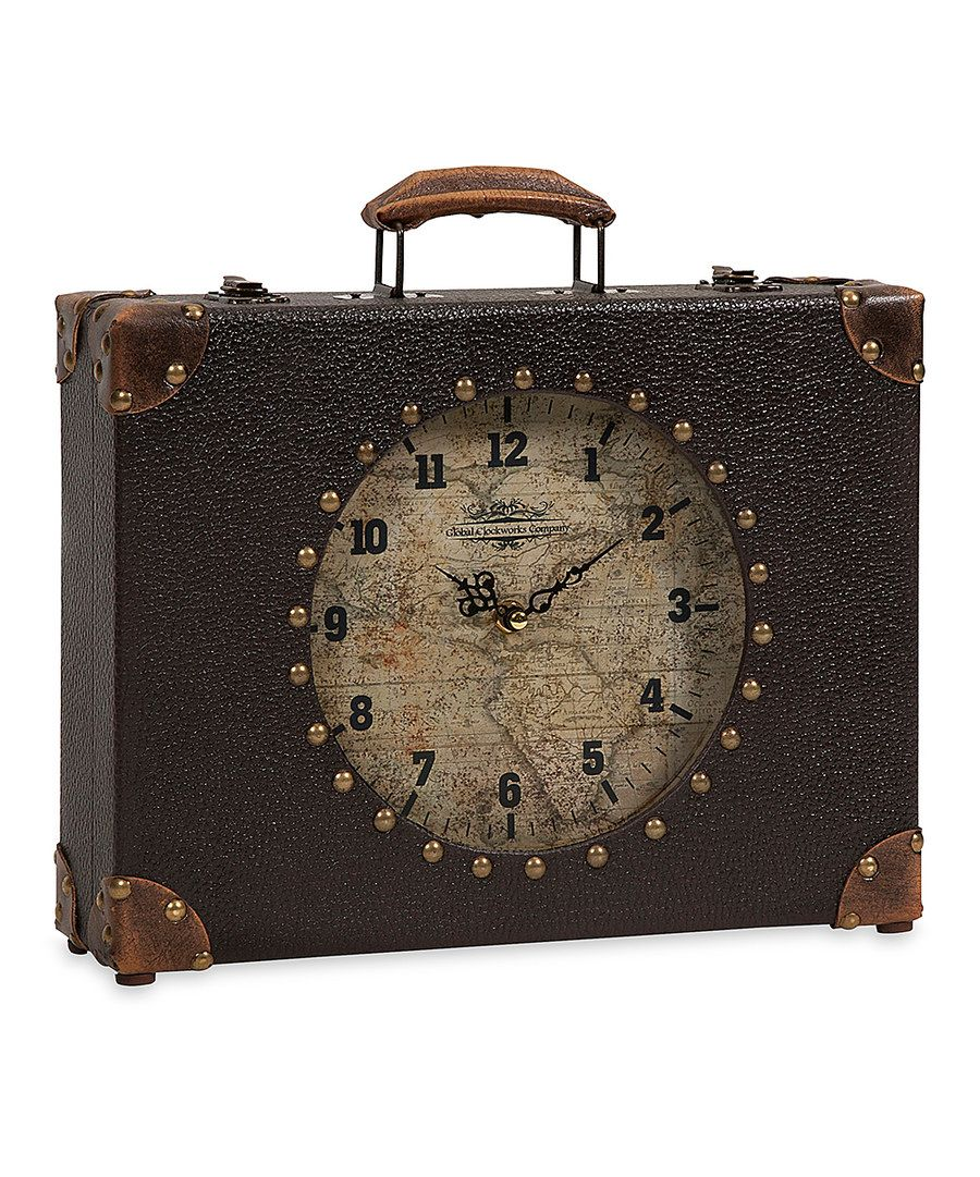 Look at this world map suitcase clock on zulily today clocks look at this world map suitcase clock on zulily today gumiabroncs Image collections